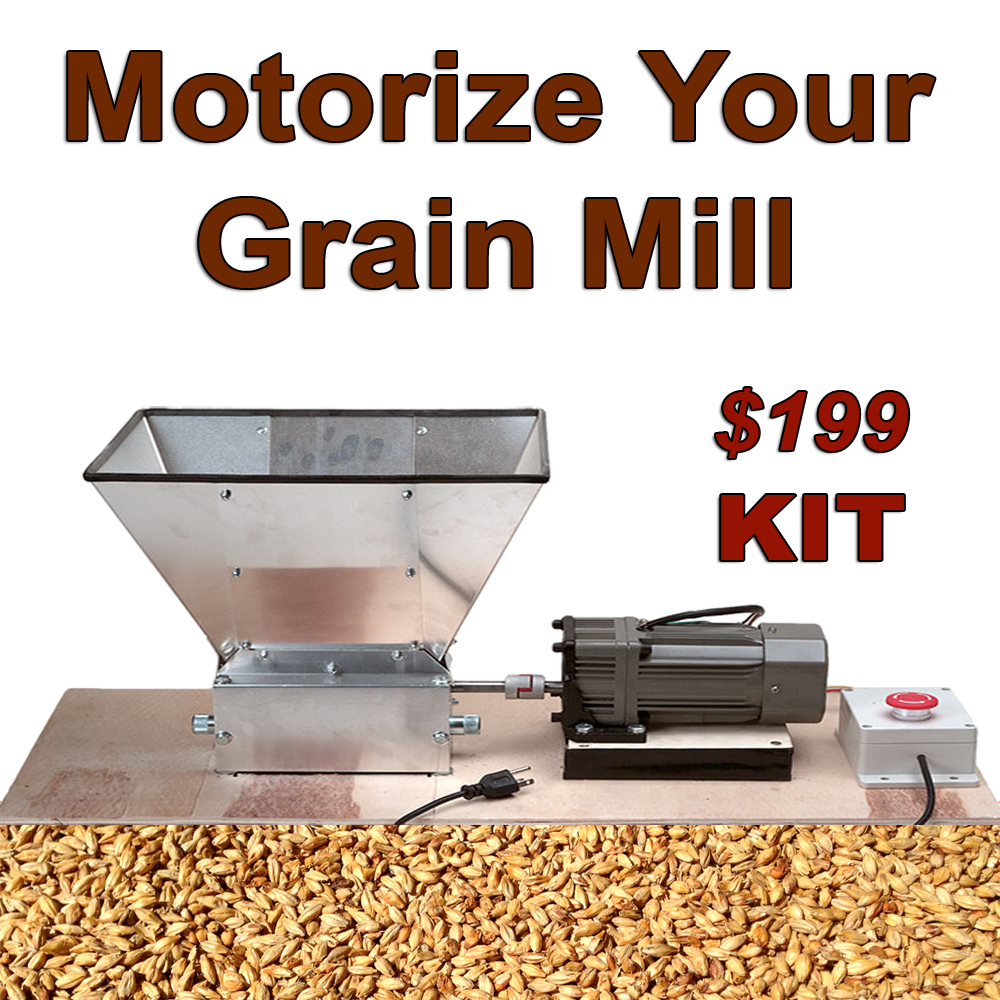 william s home brewing grain mill motorizing kit. Black Bedroom Furniture Sets. Home Design Ideas