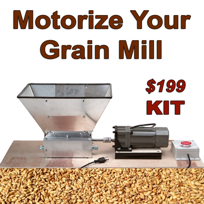 Motorize Your Home Brewing Grain Mill #home #brewing #brewer #mill