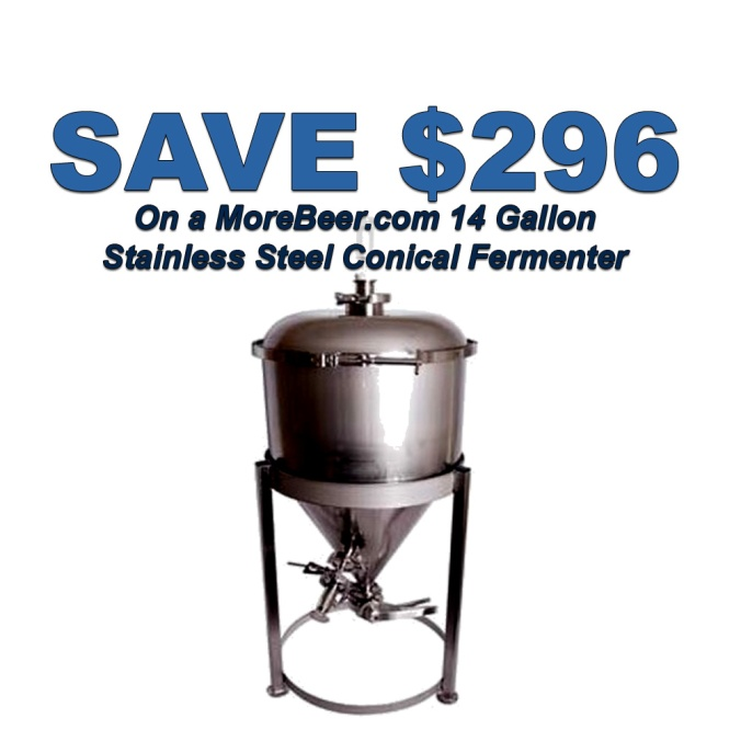Save $296 On A 14 Gallon Conical