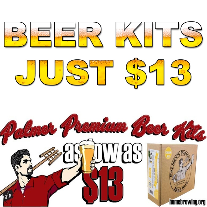 Get a 5 Gallon Palmer Home Brewing Beer Kit For As Little As $13