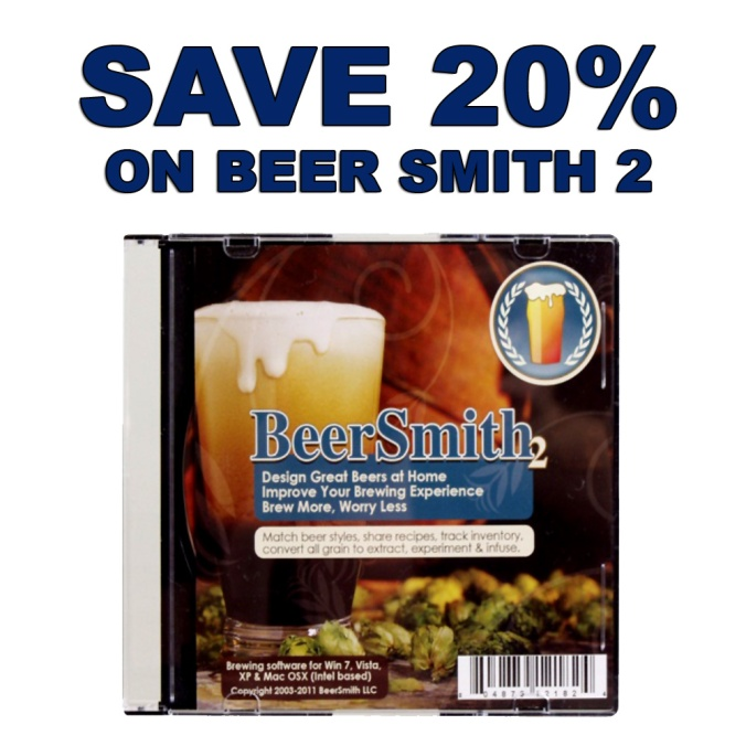 Get 20% Off Beer Smith 2 Home Brewing Software