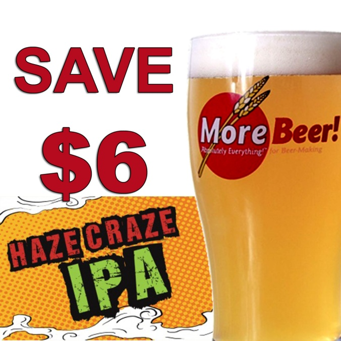 Save $6 on a More Beer Hazy IPA Home Brewing Recipe Kit