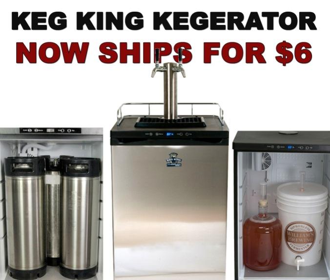 New Keg King Kegerator Ships for Just $6.99