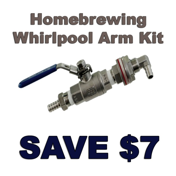 $7 Off A Stainless Steel Home Brewing Whirlpool Arm Kit
