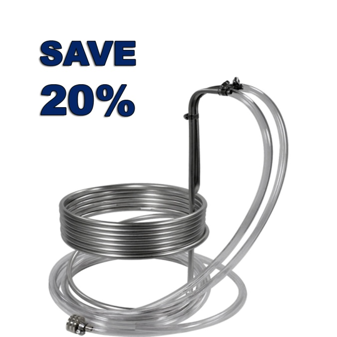 Save 20% On A MoreBeer Stainless Steel Home Brewing Wort Chiller