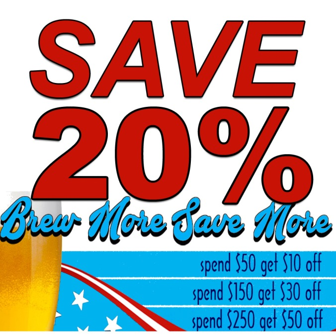 Save 20% On Your Next Home Brewing Purchase