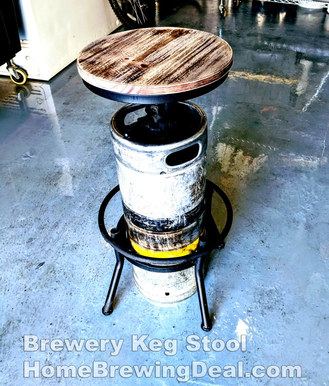 Brewery Keg Stool #homebrew #keg #stool #bar #brewing #beer #brewery #chair #idea