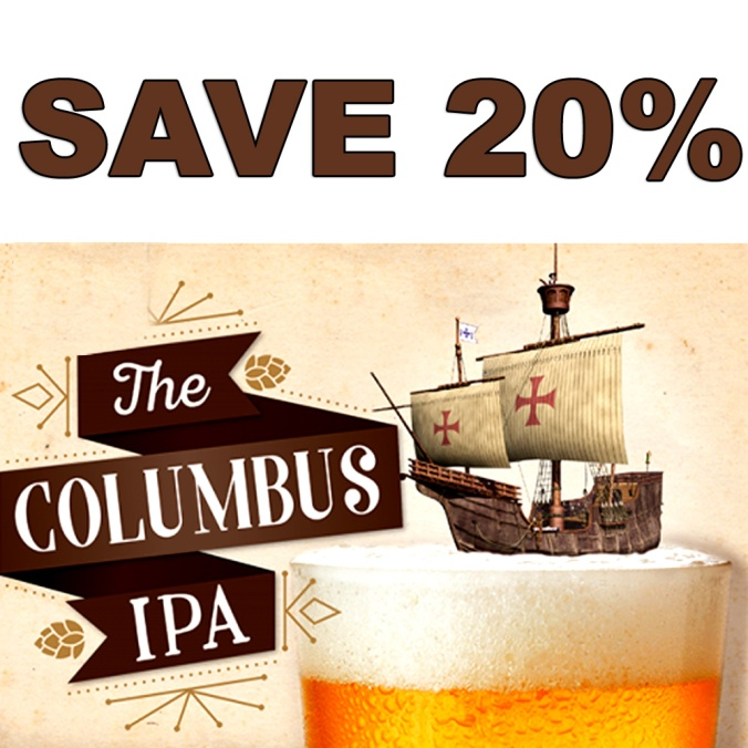 Save 20% On A More Beer Columbus IPA Extract Beer Kit #homebrew #beer #kit #extract #IPA #homebrewing #recipe