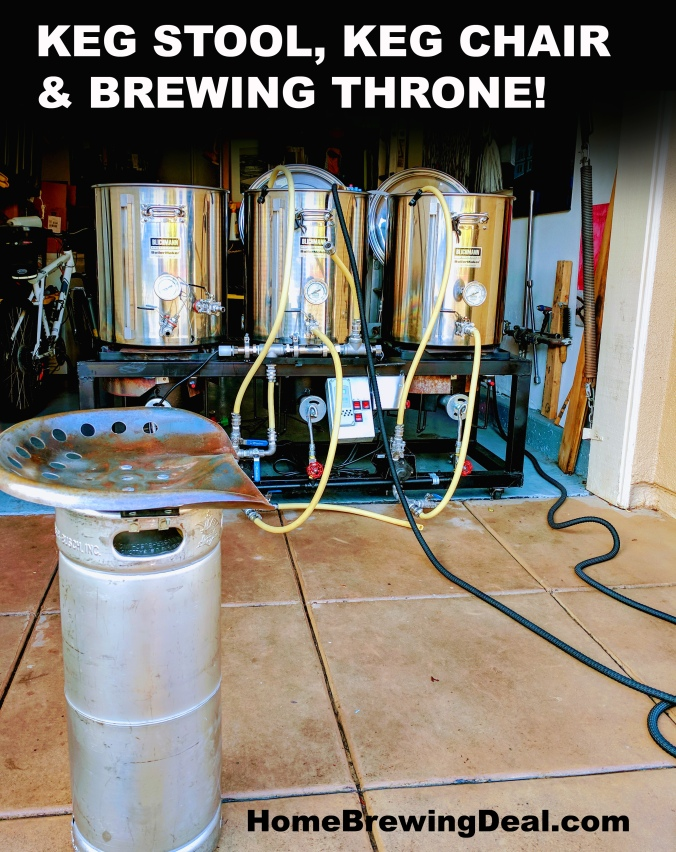 Keg Chair Keg Stool Brewing Throne #homebrew #keg #chair #stool #seat #throne