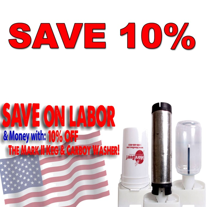 Save 10% On A Homebrewing Keg and Carboy Washer