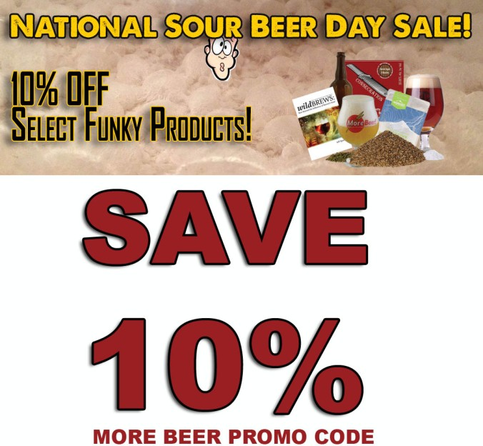 Save 10% On Sour Beer Kits at MoreBeer.com With Promo Code