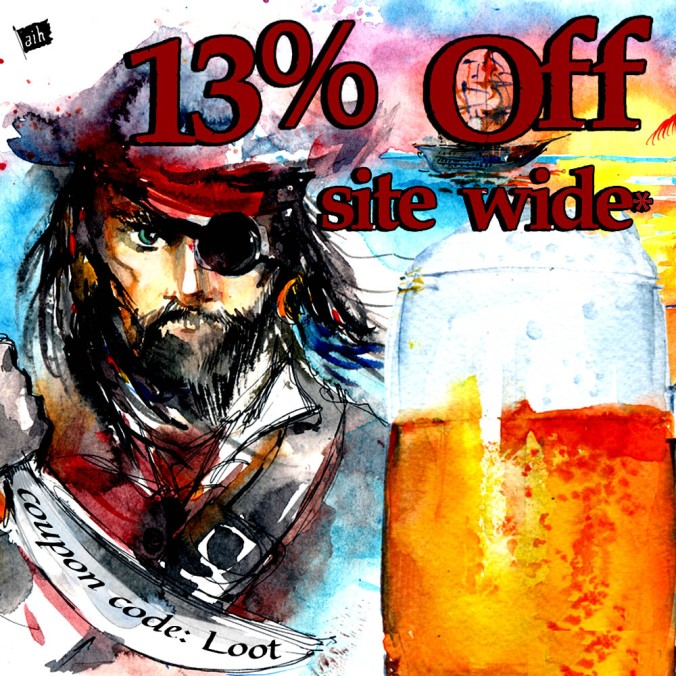 Save 13% For Talk Like A Pirate Day with this Adventures in Homebrewing Promo Code