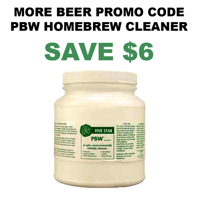 Get a 4 lbs Container of PBW Homebrewing Cleaner