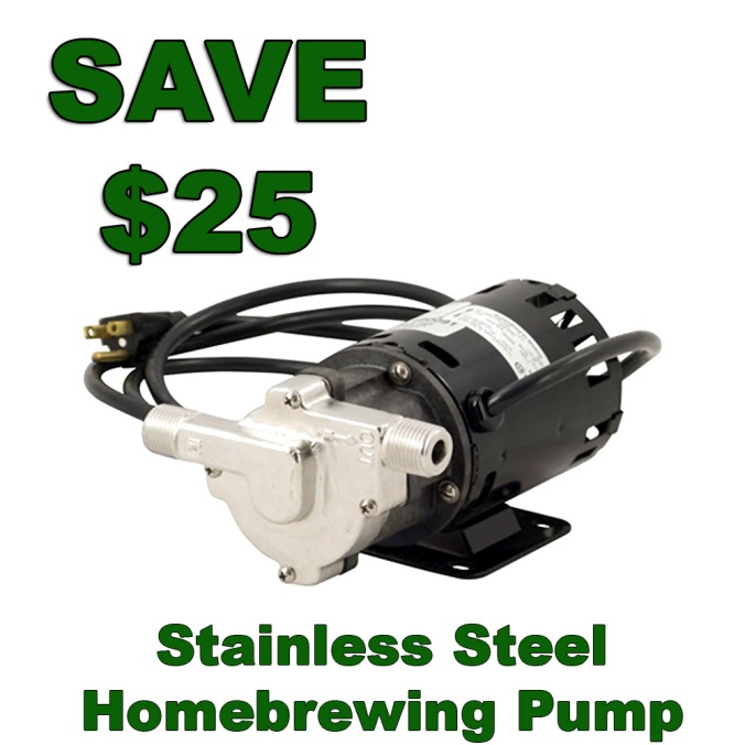 Save $25 On A New Stainless Steel Homebrewing Pump