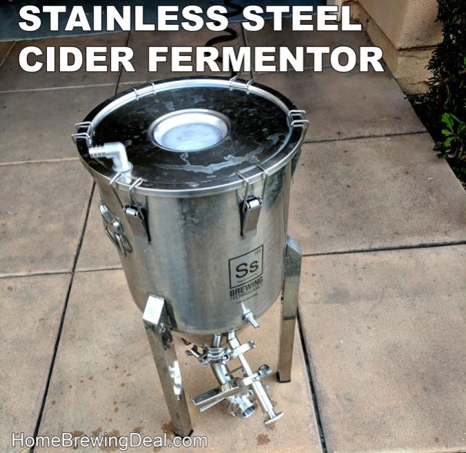 Stainless Steel Cider Fermenter #cider #fermenter #fermentor