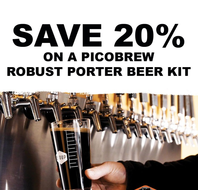 Save 20% On A Pico Brew Robust Porter Beer Kit