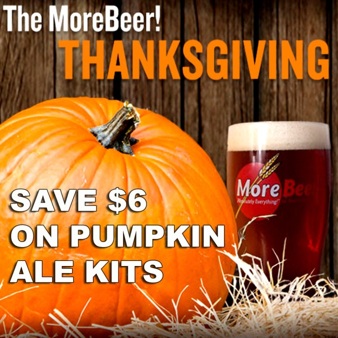Save $6 On A Home Brewing Pumpkin Beer Kit #homebrew #homebrewing
