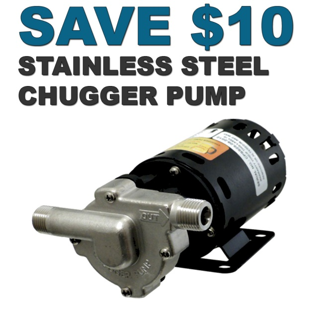 Save $10 On A New Stainless Steel Home Brewing Pump