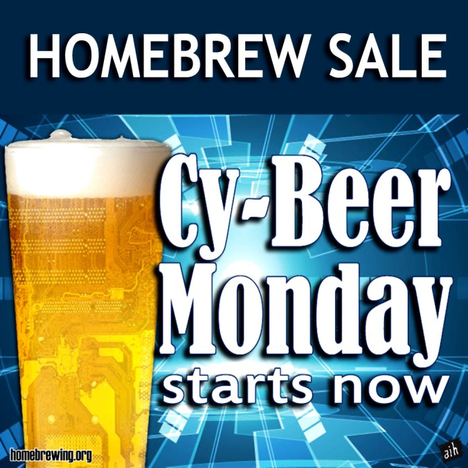 The Adventures in Homebrewing Cyber Monday Sale