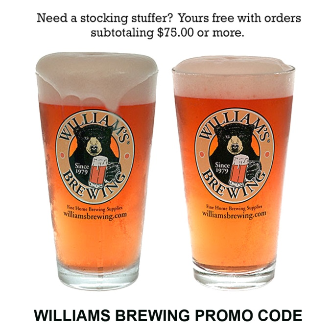 Get 2 Free Pint Glasses with this WilliamsBrewing.com Promo Code