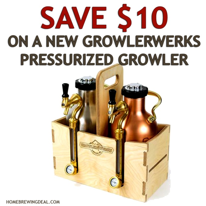 Save $10 On A Growler Werks Stainless Steel Pressurized Growler and Get FREE SHIPPING #growler #growlerwerks #stainless #pressurized #werks #works