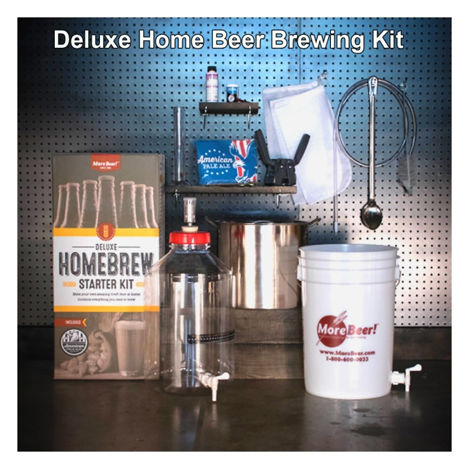 Deluxe Home Beer Brewing Kit #homebrew #homebrewing