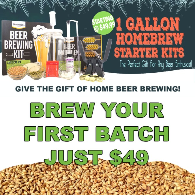 Give the Gift of Home Beer Making! Complete Beer Brewing Kits, Just $49 #homebrew #homebrewing #beer #brewing #making #kit