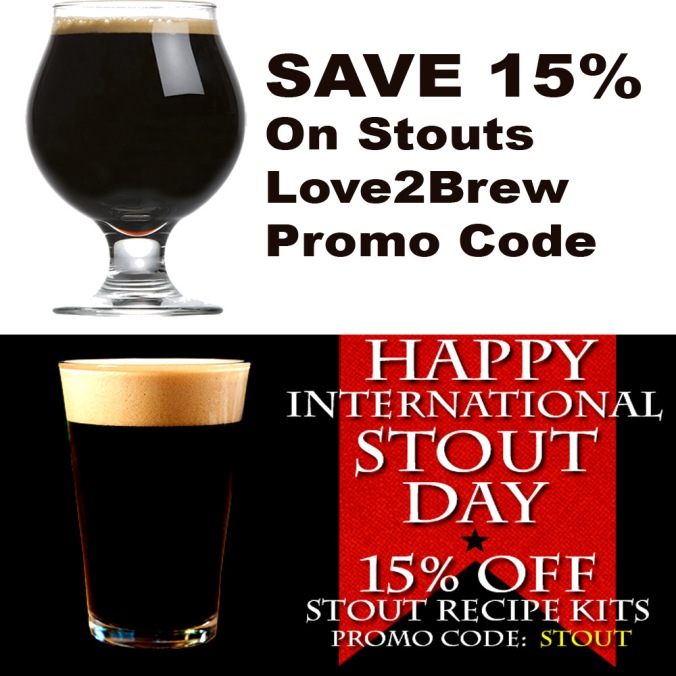 Save 15% On Stout Home Brewing Kits #love2brew #promo #code
