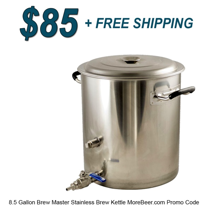 Save $15 On A BrewMaster Stainless Steel 8.5 Gallon Home Beer Brewing Kettle #homebrew #kettle