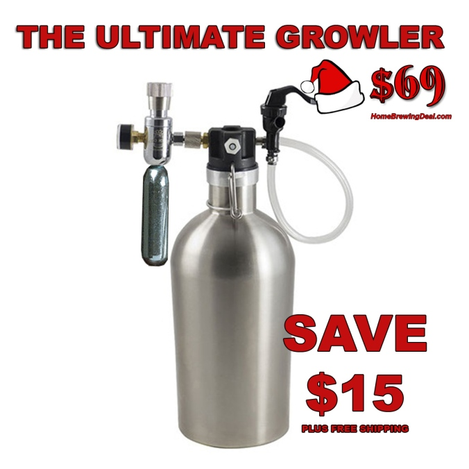 Home Brewing Holiday Deal - Get A Stainless Steel Pressurized Growler For Just $69 + Free Shipping