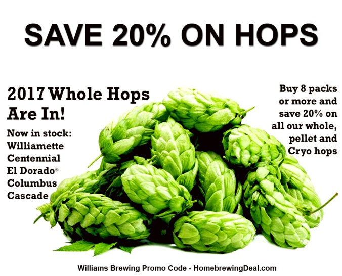 Save 20% On Home Brewing Hops #homebrew #homebrewing #hops #williams #brewing