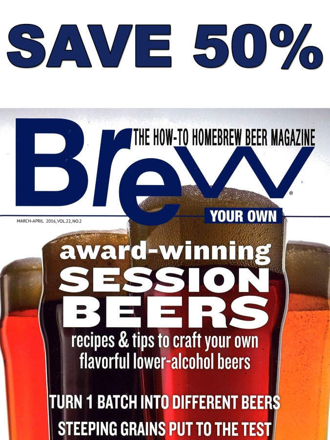 Save 50% On A Subscription to Brew Your Own Homebrewing Magazine! #brewyourown #brew #your #own #beer #brewing #homebrewing #homebrew #magazine