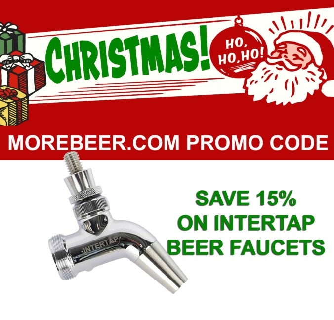 Save 15% On Intertap Beer Faucets With MoreBeer.com Promo Code Swan