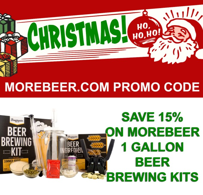 Save 20% On 1 Gallon Home Beer Brewing Kits With This MoreBeer.com Promo Code