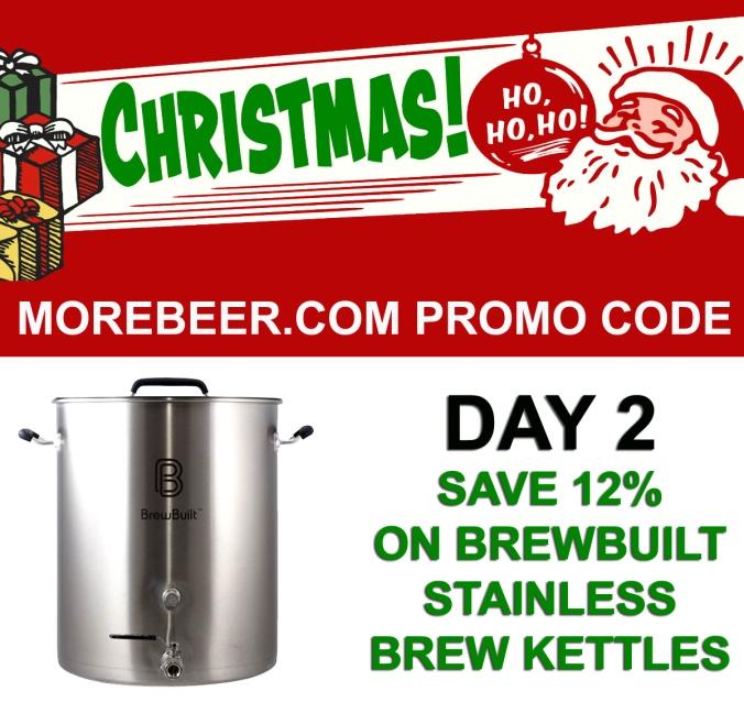 MoreBeer.com Promo Code - 12% Off BrewBuilt Stainless Steel Homebrewing Kettles
