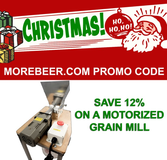Save 12% On A Motorized Grain Mill at More Beer! #home #brewing #motorized #grain #mill