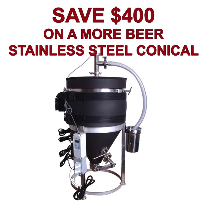 Save $400 On A More Beer Ultimate Stainless Steel Conical Fermenter With Temperature Control