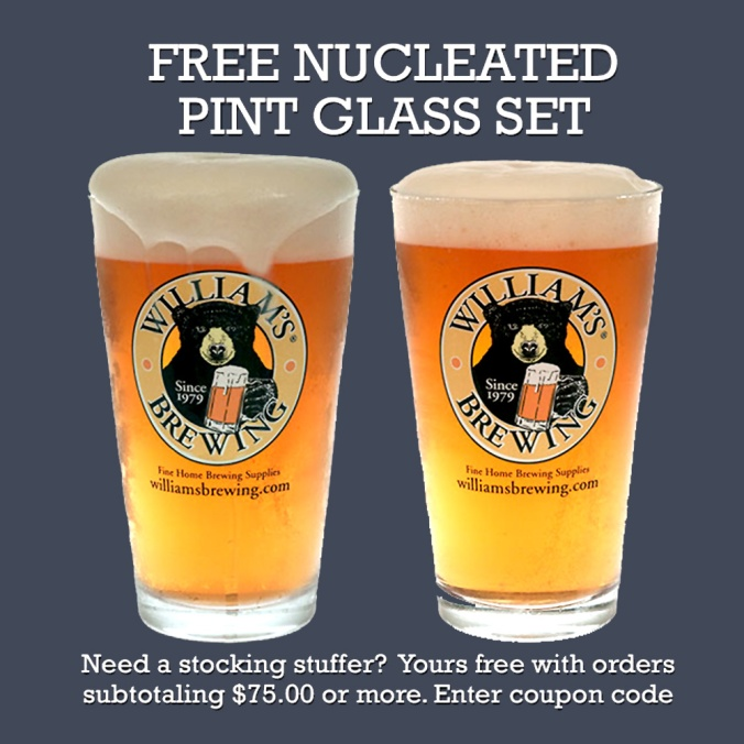 WilliamsBrewing.com Promo Code For Free Pint Glasses #homebrew #williamsbrewing #free #pint #glasses