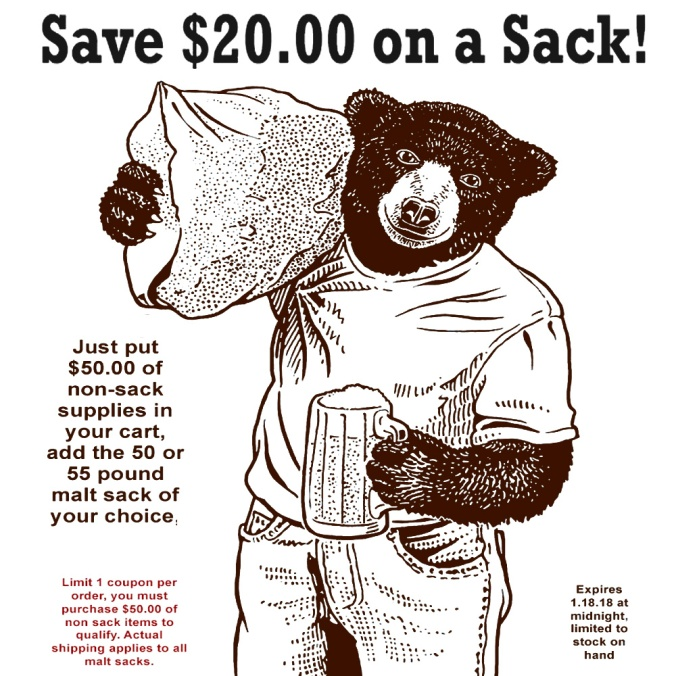 Save $20 On A Sack Of Grain With This Willaim's Brewing Coupon Code