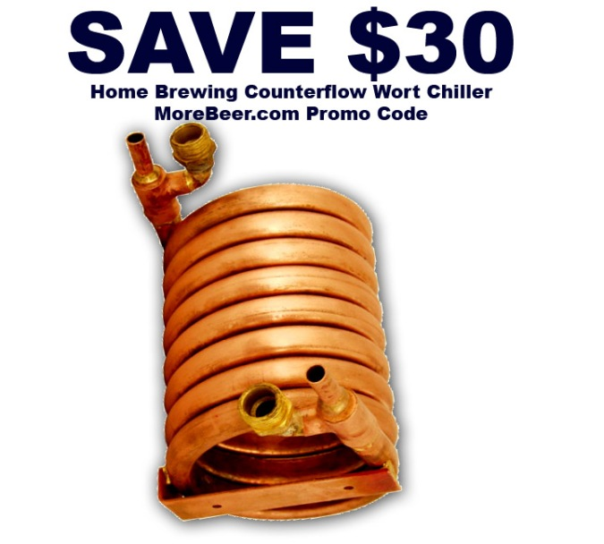 Save $30 On A Copper Counterflow Wort Chiller #homebrew #homebrewing #home #brewing #brewer #wort #chiller #copper #counterflow