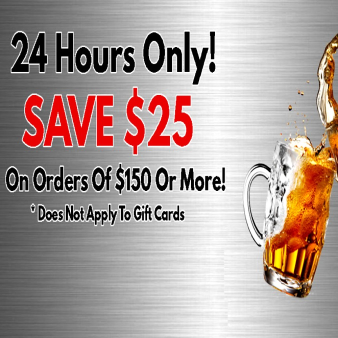 Save An Additional $25 On Your Order Of $150 At MoreBeer.com And Get Free Shipping With Promo Code