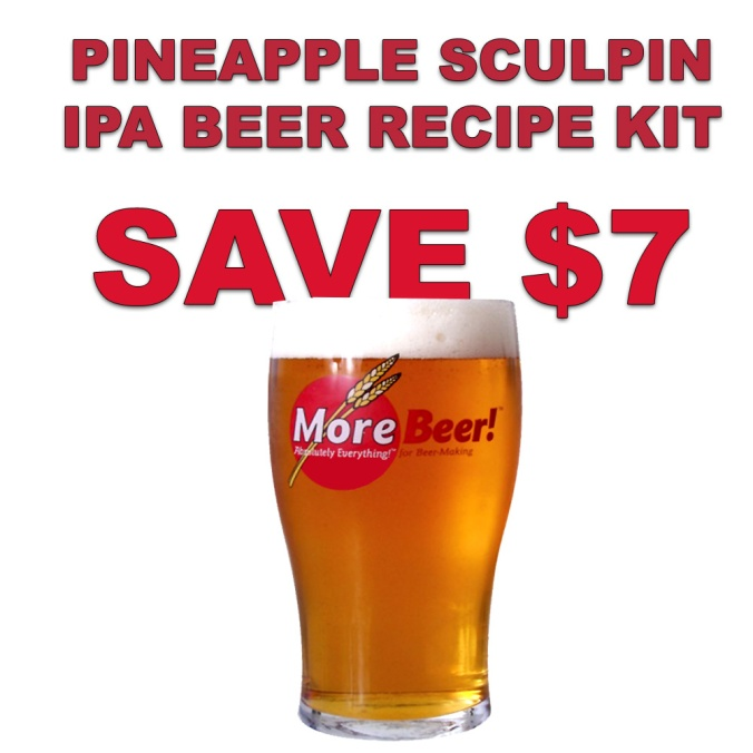Save $7 At MoreBeer.com On A Ugly Fish Pineapple Sculpin IPA Clone Extract Beer Recipe Kit