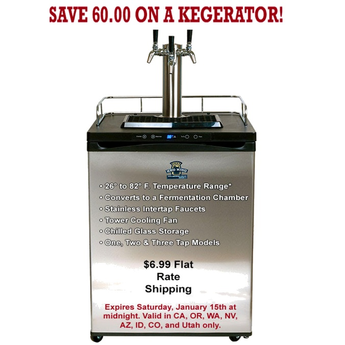 Save $60 On A KegKing Kegerator and Get $6.99 Shipping With This Williams Brewing Promo Code