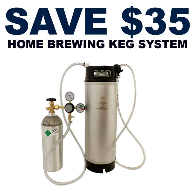 Save $35 On A Complete Home Brewing Keg System