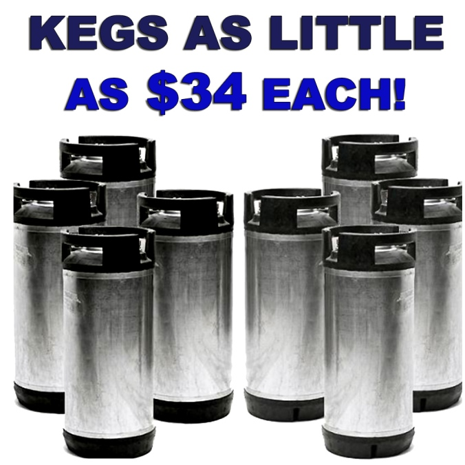 Looking for the best price on Home Brewing Beer Kegs? Get a 4-Pack for Just $34 Per Keg!