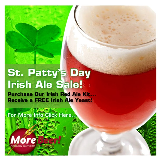 Get Free Yeast When You Purchase An Irish Ale Beer Kit At MoreBeer with Promo Code