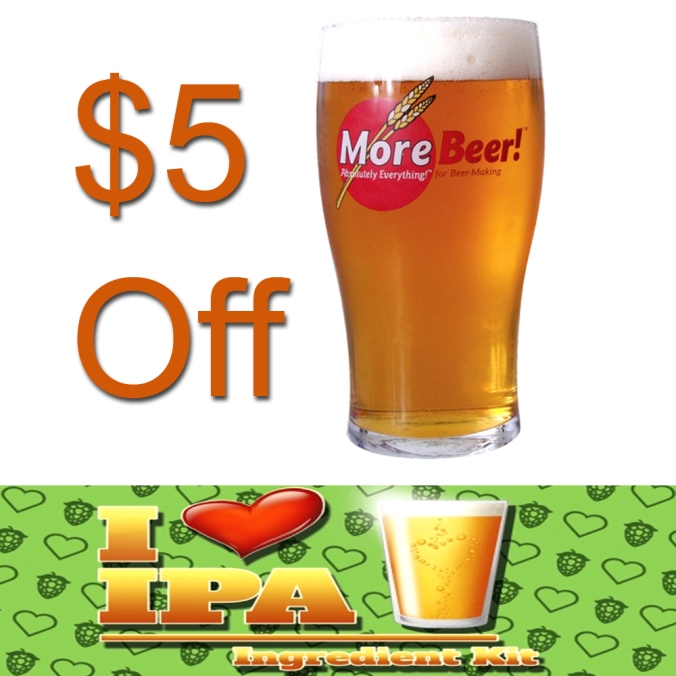 Save $5 On MoreBeer's I Love IPA Beer Kit - Today Only