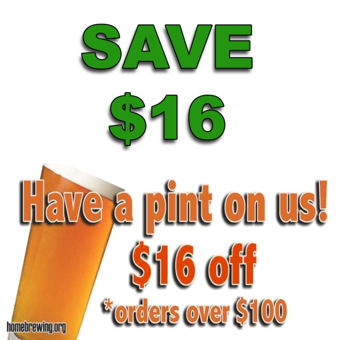 Save An Additional $16 On Your Adventures In Homebrewing Purchase