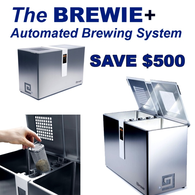 Save $500 On A New Brewie + Automated Home Beer Brewing System