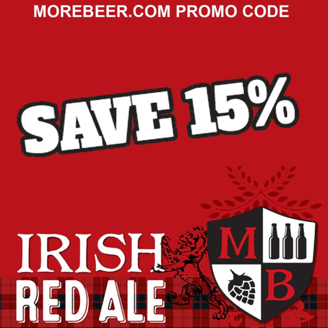 Save 15% At MoreBeer.com On Irish Red Ale Beer Kits